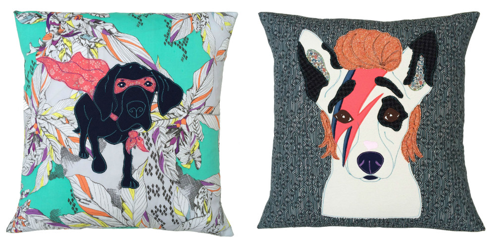 Custom Applique Pet Portrait Cushions from Mia Loves Jay