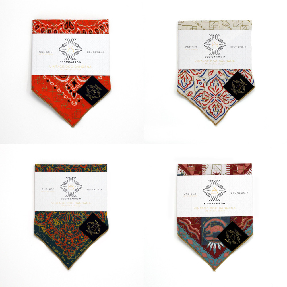 Vintage Screen Printed Bandanas from Boots & Arrow