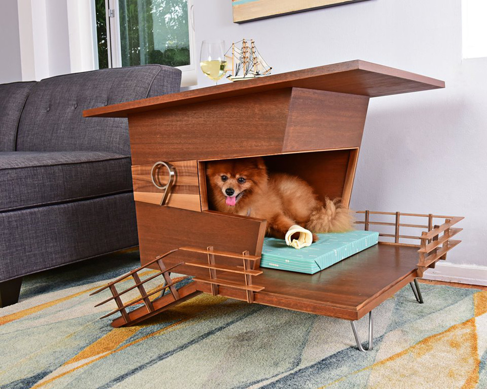 Mid-Century Modern Dog Houses + Dens from PDW