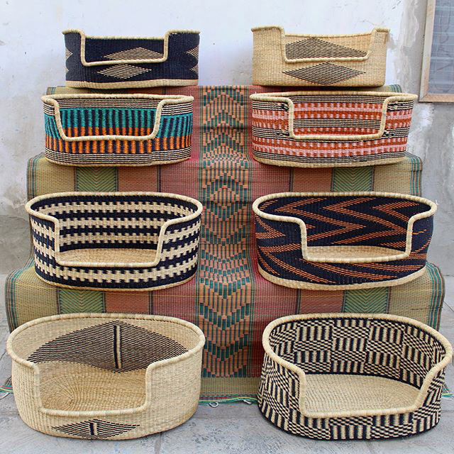 Woven Dog Beds from The Baba Tree Basket Co.