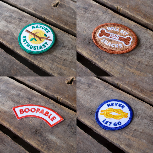 Embroidered Dog Merit Badges from Scout's Honour