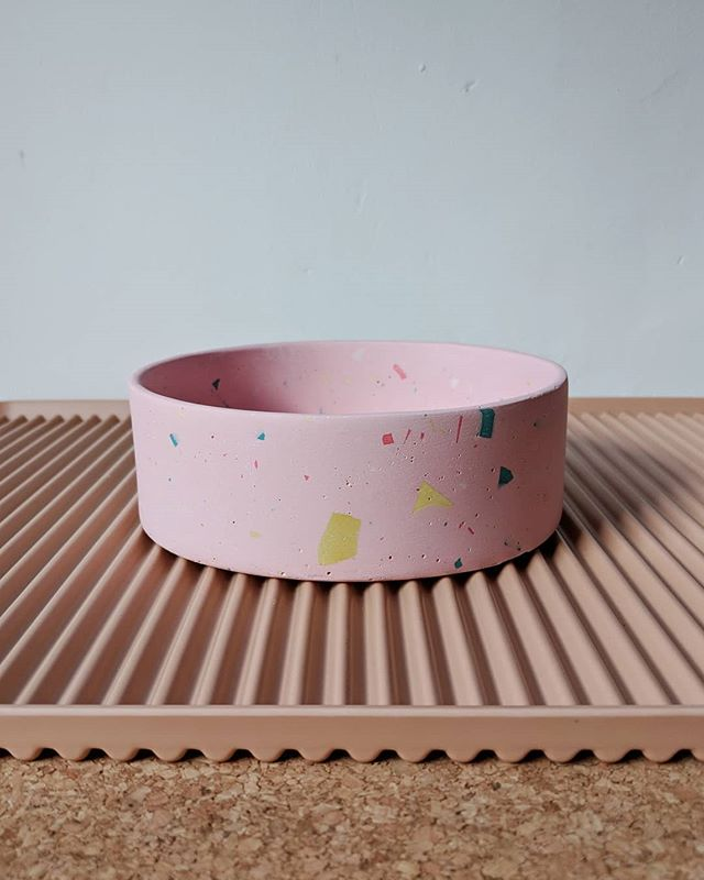 Terrazzo Dog Bowls from Four Legs Four Walls