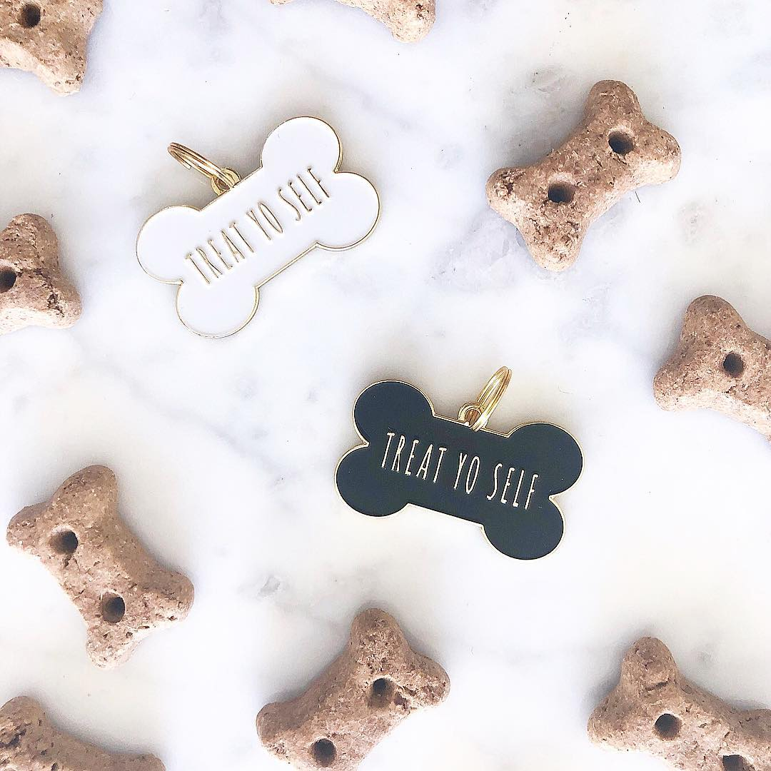Enamel ID Tags and Charms from Two Tails Pet Company