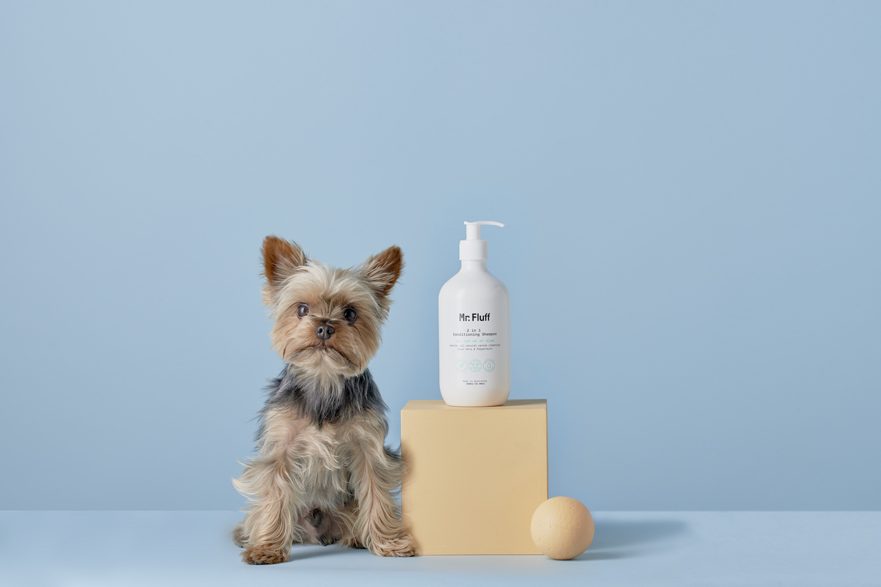 All-Natural Vegan Dog Grooming Products from Mr. Fluff