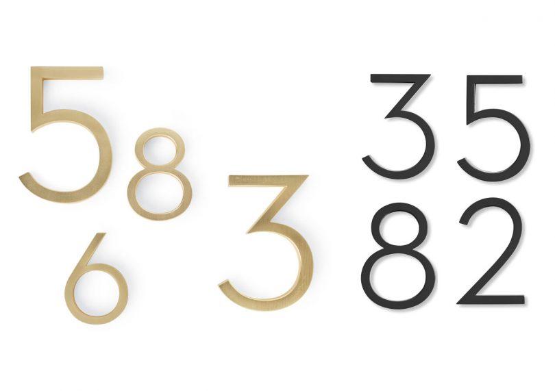 Modern house numbers 2 neutra 810x571