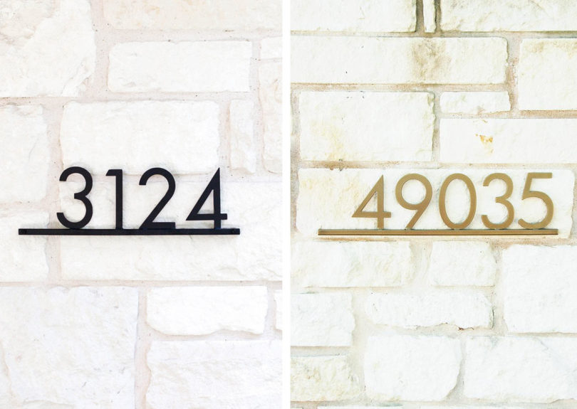 These Oil Rubbed Bronze Warren House Numbers Are From Rejuvenation And  Theyu0027re Made From Solid Brass So Theyu0027re Designed To Stand Up To Harsh  Outdoor ...