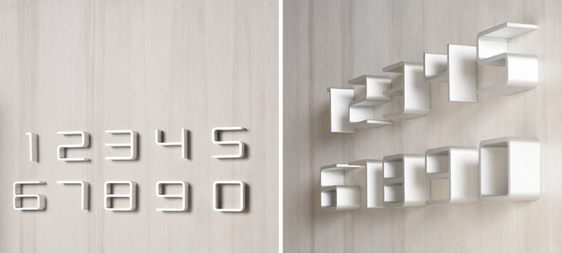 Designed By Jehs Laub For Authentics The Entrance House Numbers Have A Slightly Mod Appearance And Distinctive Look Letters Are Thin But With
