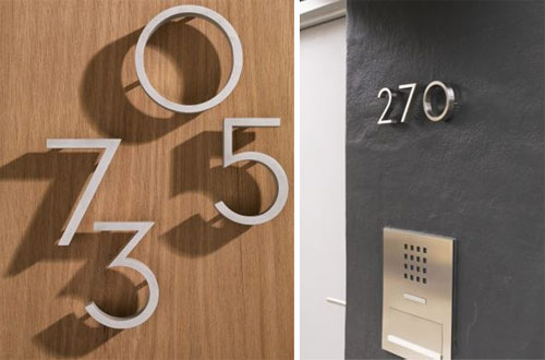 Modern house numbers design milk for Big modern house numbers