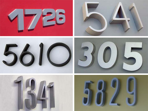 House Address Numbers and Letters