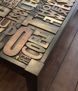 Double Take Letterpress Table
