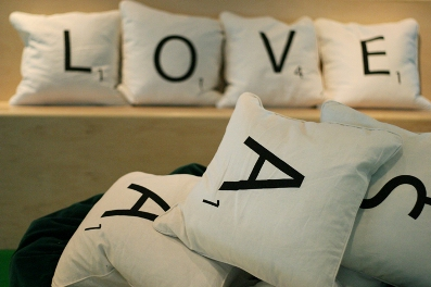 Scrabble Pillows!
