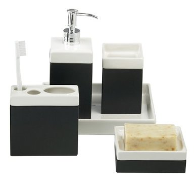 Black Tray Set. Bath Accessories   Design Milk