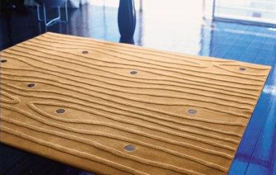wood grain rug - design milk