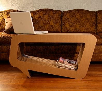 Leo Kempf Cardboard Furniture