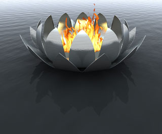 Lotus Fire Bowl