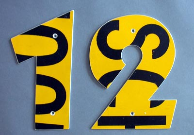 Recycled House Numbers in main architecture  Category