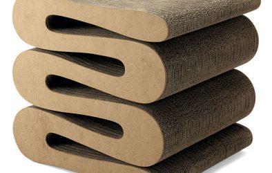 Cardboard Wiggle Stool