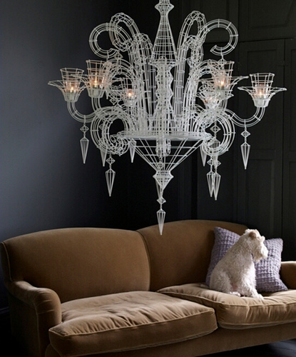 Wire Chandelier Love