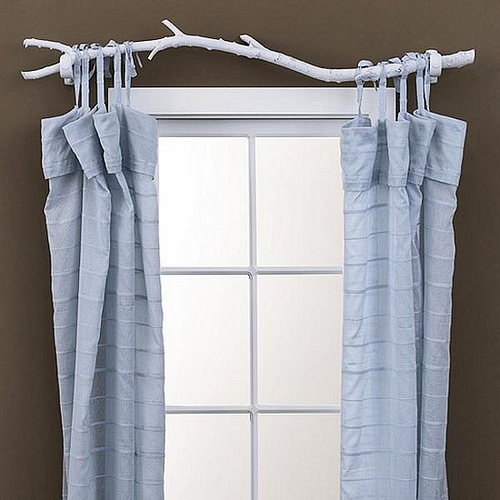 Diy Branch Curtain Rod Design Milk