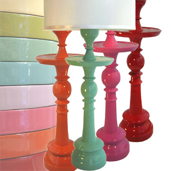 Lacquer Table Lamp