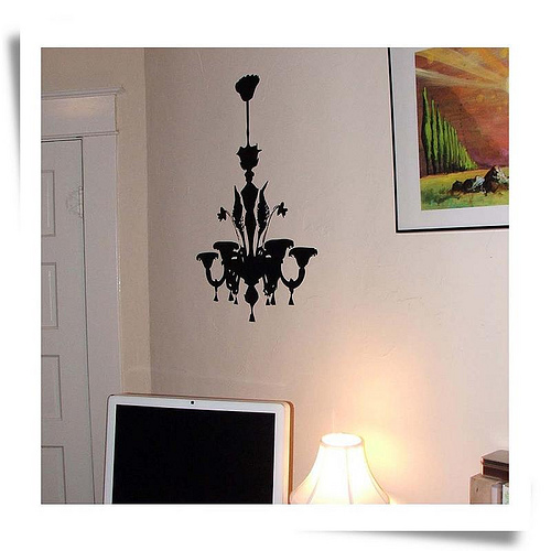 Cute Chandelier Decal