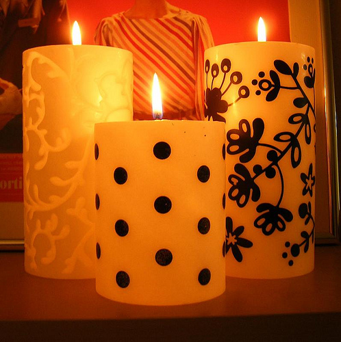 Black and Light Candles for Real in main home furnishings  Category