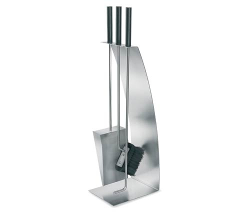 I received an email from a reader who was interested in some modern fireplace tools. I immediately thought of Blomus. I think they might have the widest se