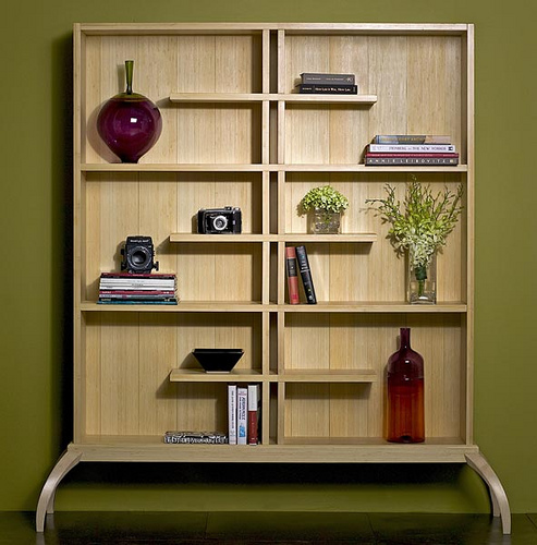 Kumiko Bookshelf Design Milk