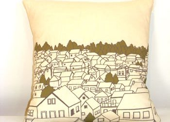 Rooftops Pillow