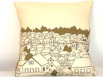Rooftops Pillow