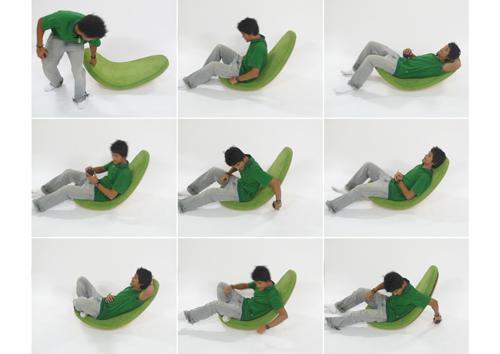 Leaf rocking chair
