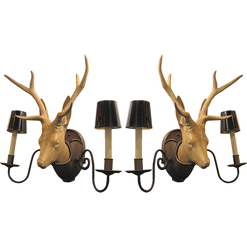 Ceramic Deer Head Sconces