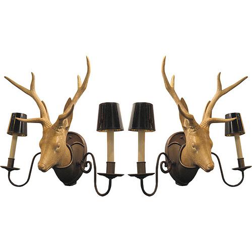 Ceramic Deer Head Sconces