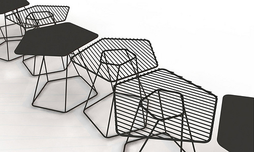 Tectonic Tables - Alain Gilles for Bonaldo, launched at Salone