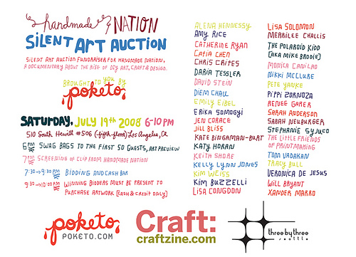 Poketo & Handmade Nation present: Silent Art Auction Fundraiser