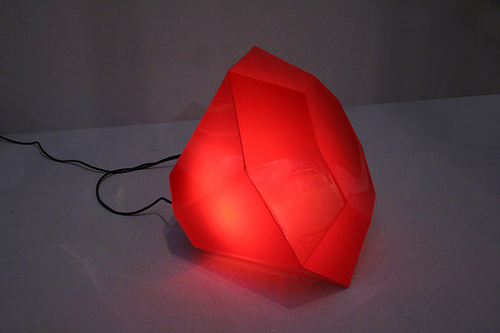 Blood Red Diamond Lamp - IAFR