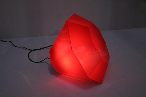 Blood Red Diamond Light