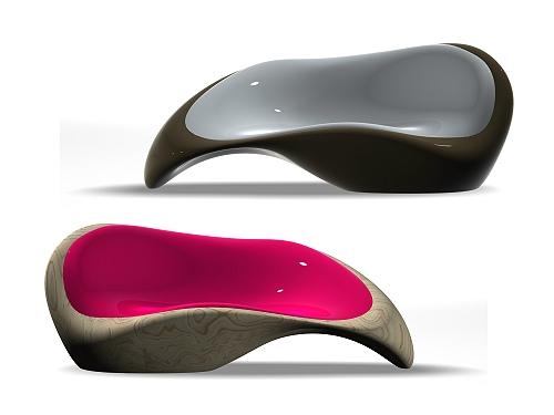 Curvy, Organic C Lounge Sofa By Dima Loginoff Design