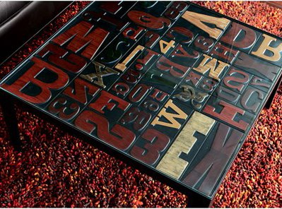 Double Take Letterpress Table in main home furnishings  Category