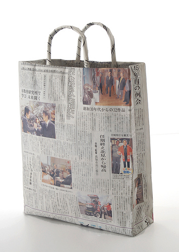 Shinbun Tote Bags  in style fashion  Category
