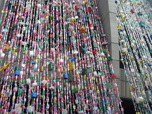 Plastic Bottles Installation in main art  Category