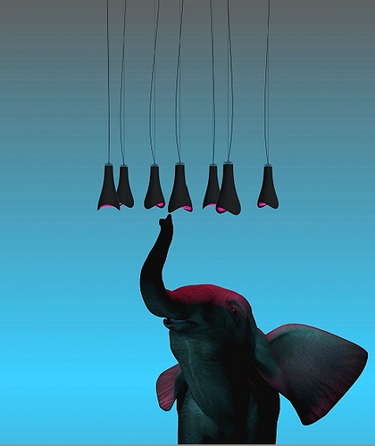 Nice Inspired By An Elephantu0027s Trunk, This LED Hanging Lamp By Russian Designer Dima  Loginoff Fabricates Organic Lines With A Modern Approach To Structure And  ... Design