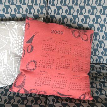 Calendar Cushion