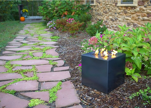Outdoor Fire Cube