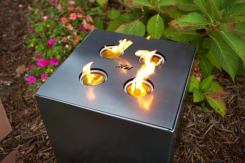 Outdoor Fire Cube in main home furnishings  Category
