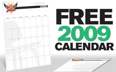 Free 2009 Calendar from BAS