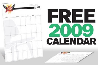 Free 2009 Calendar from BAS in art  Category