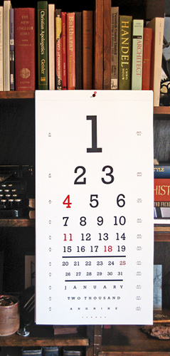 Seeing Eye Calendar