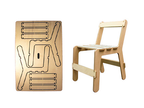 Exhibition Portable Flat Pack Furniture : Ruffino mr plywood chair project