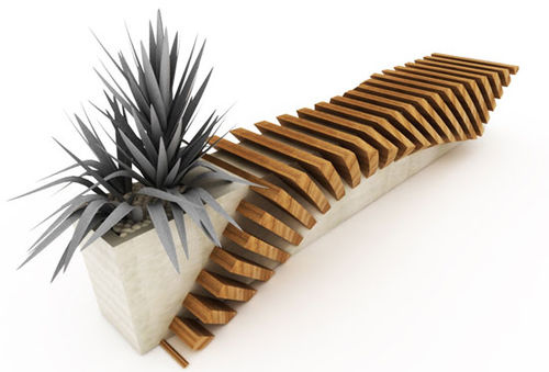 Planter Slat Bench